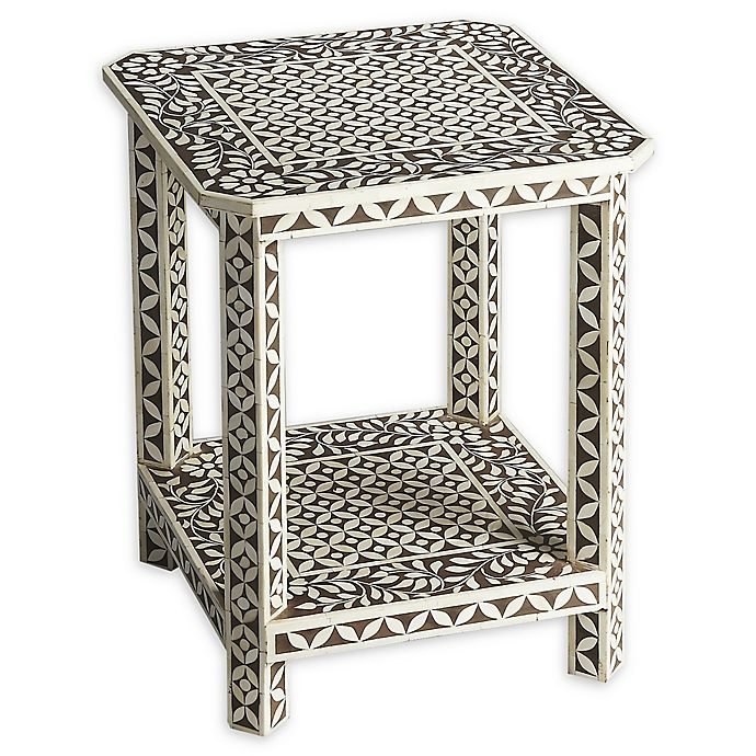 Alternate image 1 for Butler Amelia Bone Inlay Side Table in Brown