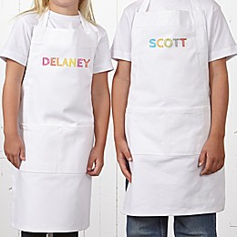 Stencil Name Youth Apron