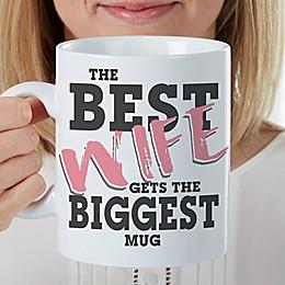 The Best Wife Personalized 30 oz. Oversized Coffee Mug