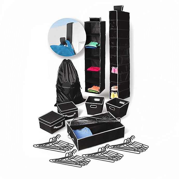 Alternate image 1 for Back To College 30-Piece Storage Bundle Set in Black