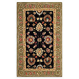 Safavieh Anatolia Melania 4' x 6' Handcrafted Area Rug in Black