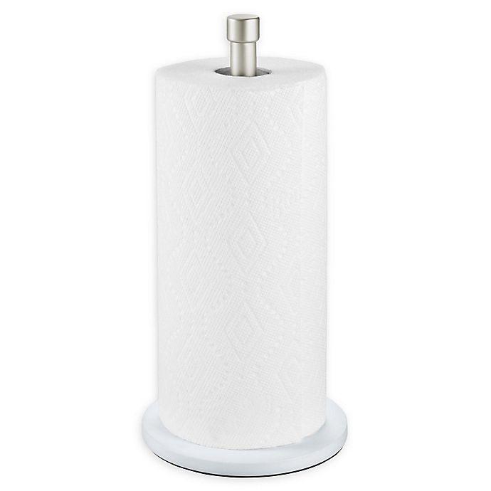 Alternate image 1 for InterDesign® Paper Towel Holder in White/Satin
