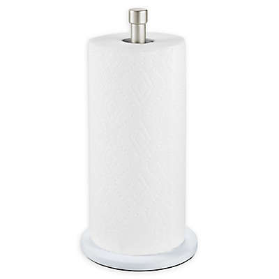 InterDesign® Paper Towel Holder in White/Satin