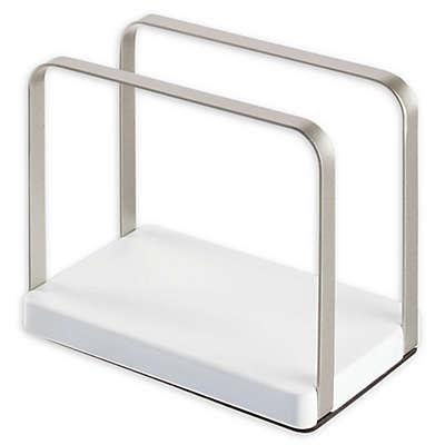 InterDesign® Ceramic Napkin Holder in White/Satin