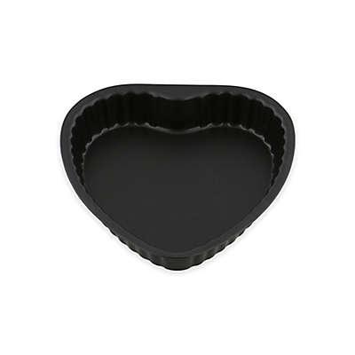 Ballarini La Patisserie Scalloped Heart Cake Pan in Black