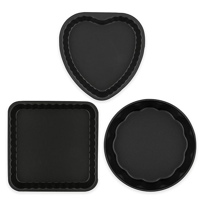 Alternate image 1 for Ballarini La Patisserie 3-Piece Scalloped Novelty Cake Pan Set in Black