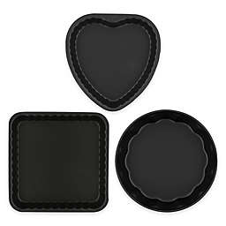 Ballarini La Patisserie 3-Piece Scalloped Novelty Cake Pan Set in Black