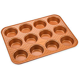 Copper Chef™ Diamond  Bakeware 12-Cup Nonstick Muffin Pan