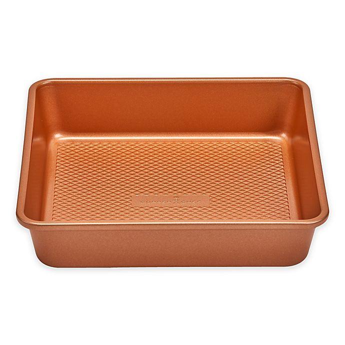 Alternate image 1 for Copper Chef™ Diamond Bakeware 9-Inch Nonstick Square Cake Pan