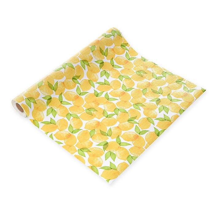 Alternate image 1 for Con-Tact® Grip Prints Non-Adhesive Shelf Liner in Lemon Grove