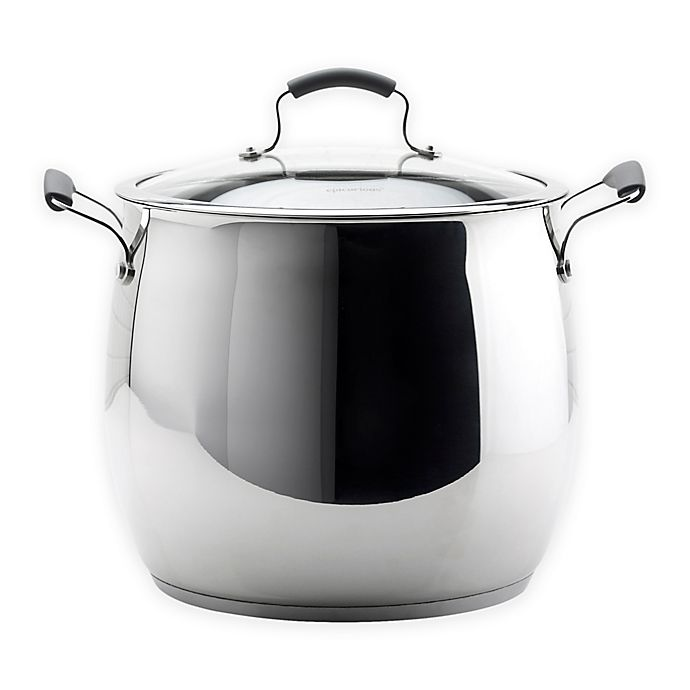 Alternate image 1 for Epicurious® 18 qt. Stainless Steel Covered Stock Pot