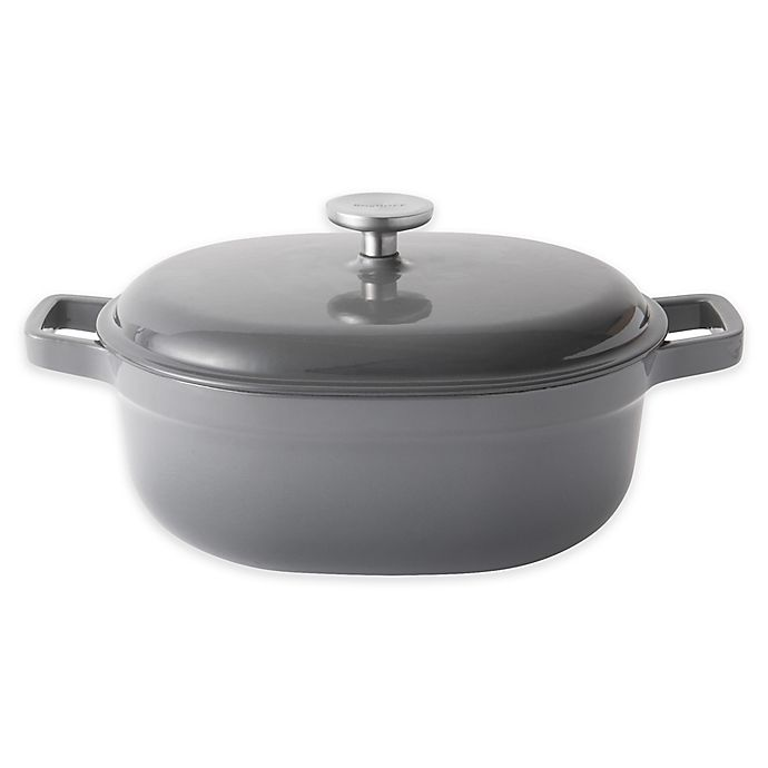 Alternate image 1 for BergHOFF® Gem 4.3 qt. Enameled Cast Iron Covered Casserole in Grey