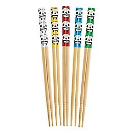 Helen's Asian Kitchen® 5-Pair Panda Bamboo Chopsticks Set