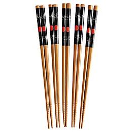 Helen's Asian Kitchen® 5-Pair Bamboo Sushi Chopsticks Set