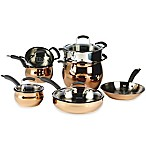 Epicurious® 11-Piece Stainless Steel Cookware Set in Rose Gold