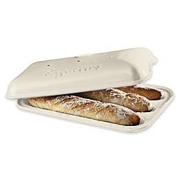 Emile Henry 15.5-Inch Baguette Baker in Linen