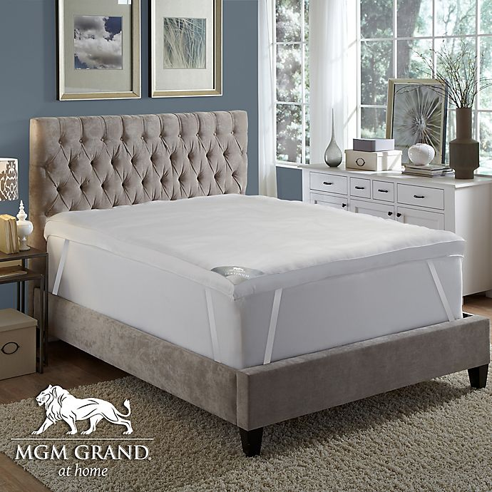 Alternate image 1 for MGM Grand® Platinum 5-Inch Featherbed Full Mattress Topper in White