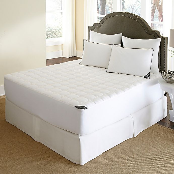 Alternate image 1 for 500-Thread-Count Waterproof Queen Mattress Pad in White