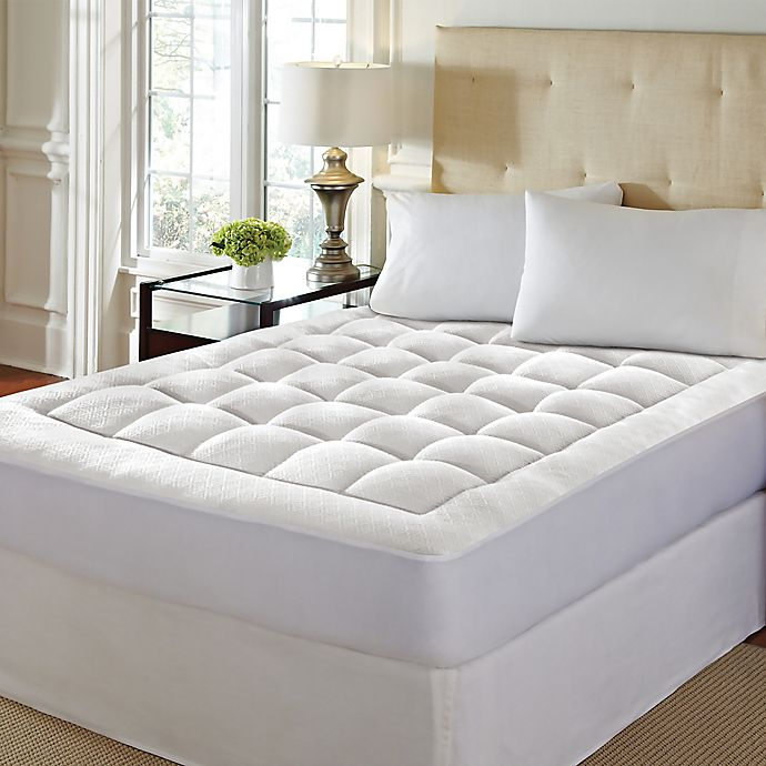 Alternate image 1 for High-Loft Memory Foam Full Mattress Pad in White
