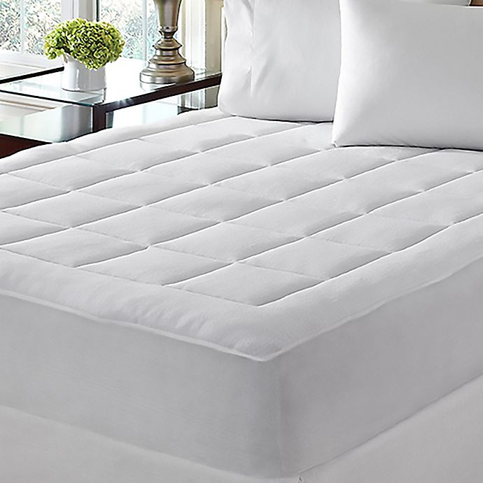 Alternate image 1 for Dream Cloud™ Microplush Mattress Pad in White