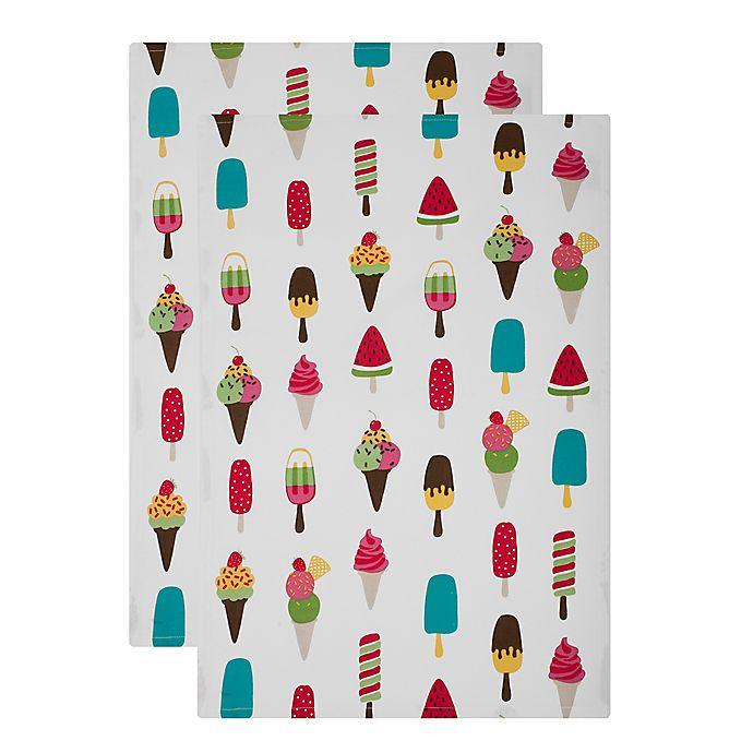 Alternate image 1 for MU Kitchen™ Cool Treats Designer Print Kitchen Towels (Set of 2)