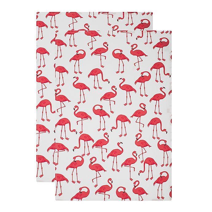 Mu Kitchen: MU Kitchen™ Flock Of Flamingos Designer Print Kitchen