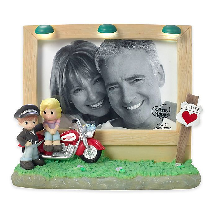 Alternate image 1 for Precious Moments® Motorcycle Couple 4-Inch x 6-Inch Picture Frame