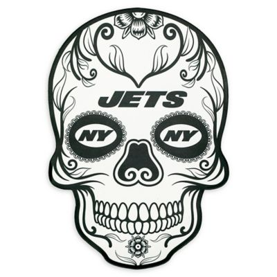 Nfl New York Jets Large Skull Outdoor Decal Bed Bath