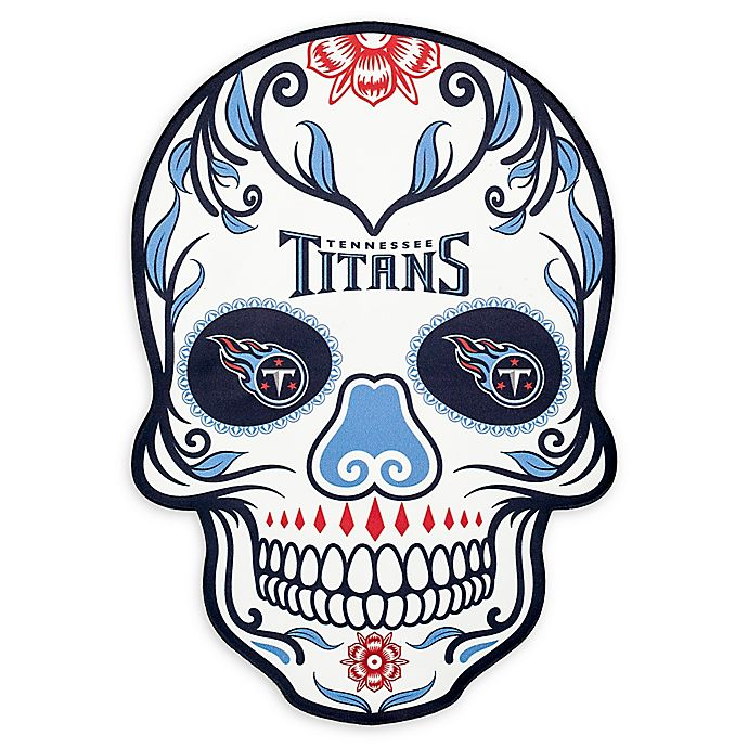 Alternate image 1 for NFL Tennessee Titans Large Skull Outdoor Decal