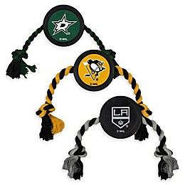 NHL Rubber Hockey Puck Dog Rope Toy Collection