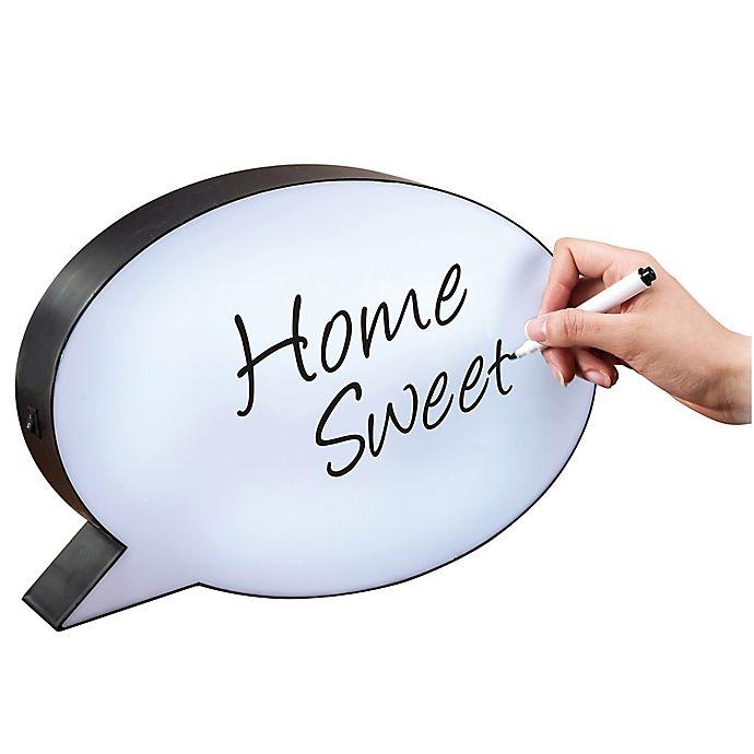 Alternate image 1 for Oval Speech Bubble-Shaped LED Light Box