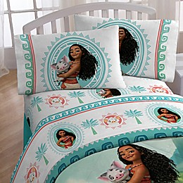 Disney® Moana The Wave Twin Sheet Set in White/Blue