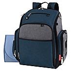 Fisher Price® Kaden Super Cooler Backpack Diaper Bag in Blue/Grey