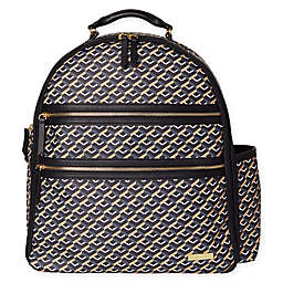 SKIP*HOP® Deco Saffiano Diaper Backpack in Black