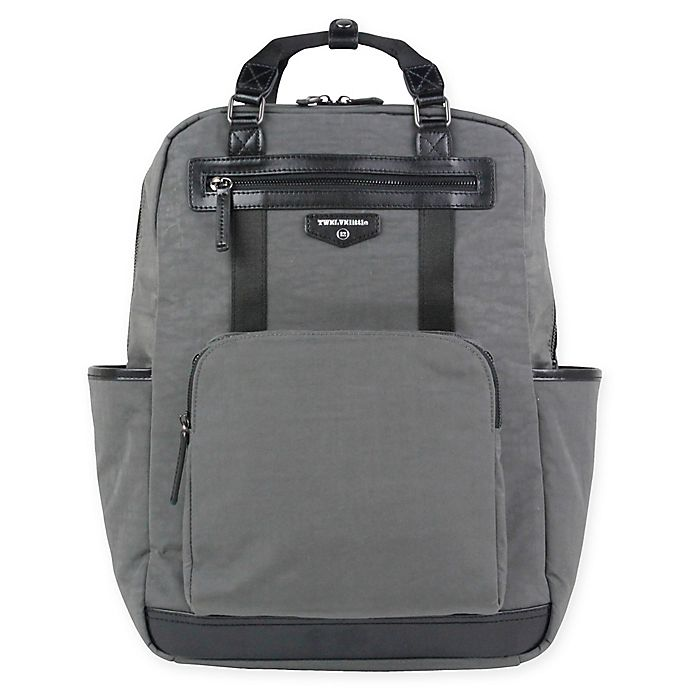 Alternate image 1 for TWELVElittle Courage Backpack Diaper Bag in Grey
