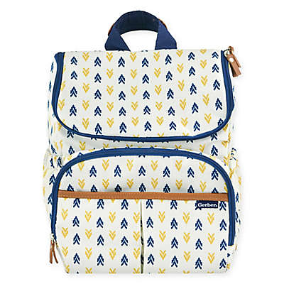 Gerber® Print Backpack Diaper Bag