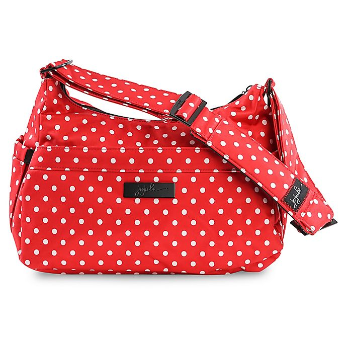 Alternate image 1 for Ju-Ju-Be® HoboBe Messenger Diaper Bag in Red