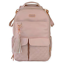 Itzy Ritzy® Boss Quilted Diaper Backpack in Blush