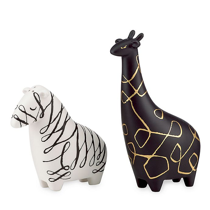Alternate image 1 for kate spade new york Woodland Park™ Zebra & Giraffe Salt & Pepper Set