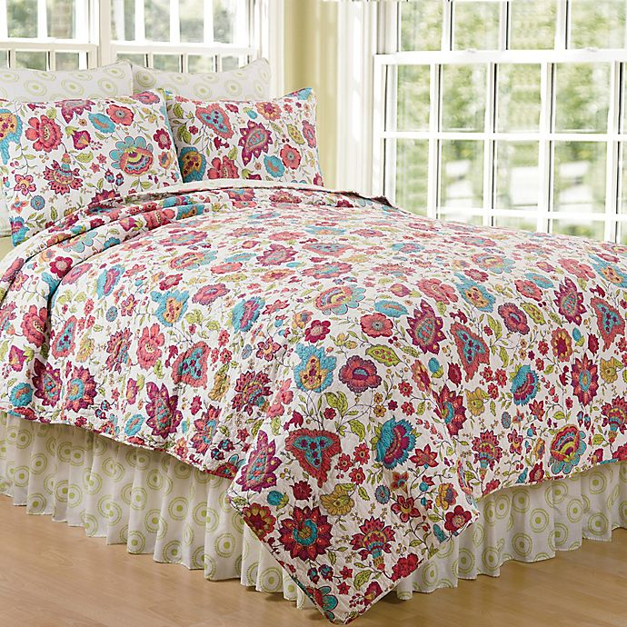 Alternate image 1 for Teagan Reversible Full/Queen Quilt in Pink