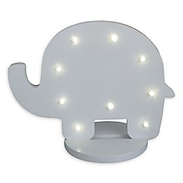 NoJo® Elephant Shaped Standing Marquee Light in Grey