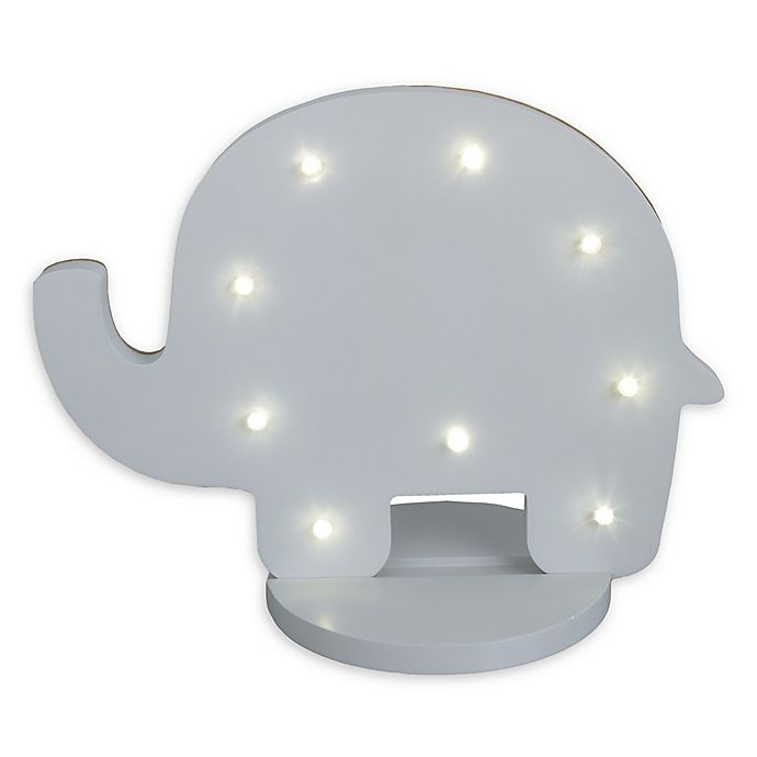 Alternate image 1 for NoJo® Elephant Shaped Standing Marquee Light in Grey