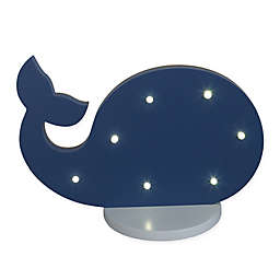 NoJo® Whale Shaped Standing Marquee Light in Navy