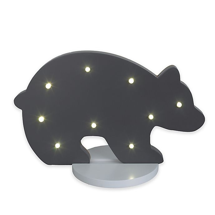 Alternate image 1 for NoJo® Bear Shaped Standing Marquee Light in Grey