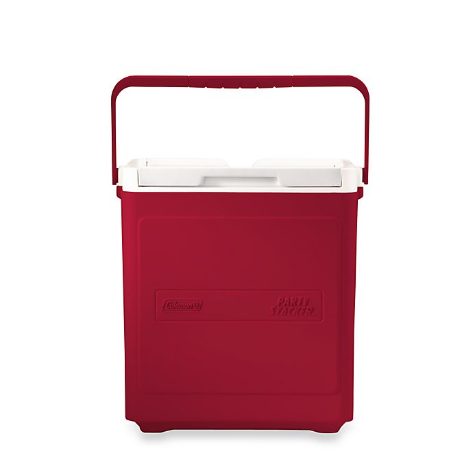Alternate image 1 for Coleman® 20-Can Party Stacker™ Cooler in Red