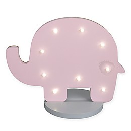 NoJo® Elephant Shaped Standing Marquee Light in Pink