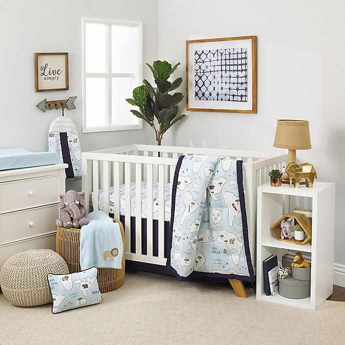 Alternate image 1 for NoJo® Dreamer Little Explorer 8-Piece Crib Bedding Set in Navy