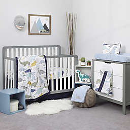 NoJo® Dreamer Little Dinosaurs 8-Piece Crib Bedding Set in Navy