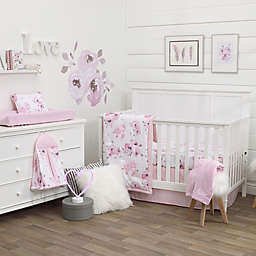 NoJo® Dreamer Watercolor Floral 8-Piece Crib Bedding Set in Rose Pink