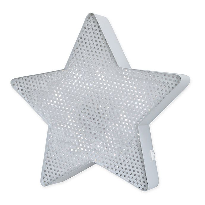 Alternate image 1 for NoJo® Little Love Star Light Up Mesh Wall Décor in Grey